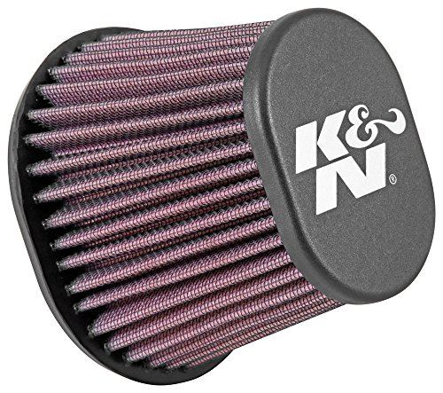 K&N RE-0961 Universal Clamp-On Air Filter: Oval Tapered; 2.438 in (62 mm) Flange ID; 4 in (102 mm) Height; 4.5 in x 3.75 in (114 mm x 95 mm) Base; 3 in x 2 in (76 mm x 51 mm) Top