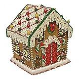 Mary Frances Gingerbread House Beaded Jeweled Christmas Holiday Santa Handbag Purse