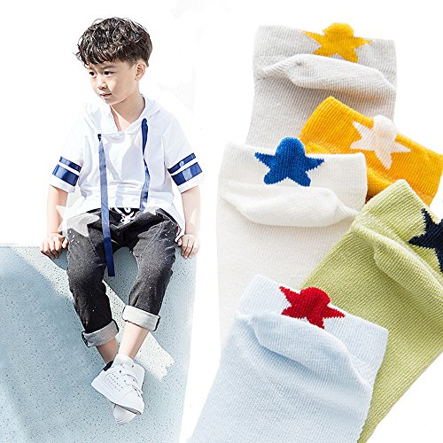 Kids' Short Cotton Ankle Socks, MENTAIQI Mesh Breathable No-Show Crew Low-Cut Socks Hosiery for Toddler/Little Kid/Big Kid (Pack of 5) (M(15-17cm)5-7 Years)