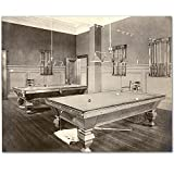 Pool Table - 11x14 Unframed Photographic Art Print - Great Lounge/Game Room/Billiards Decor