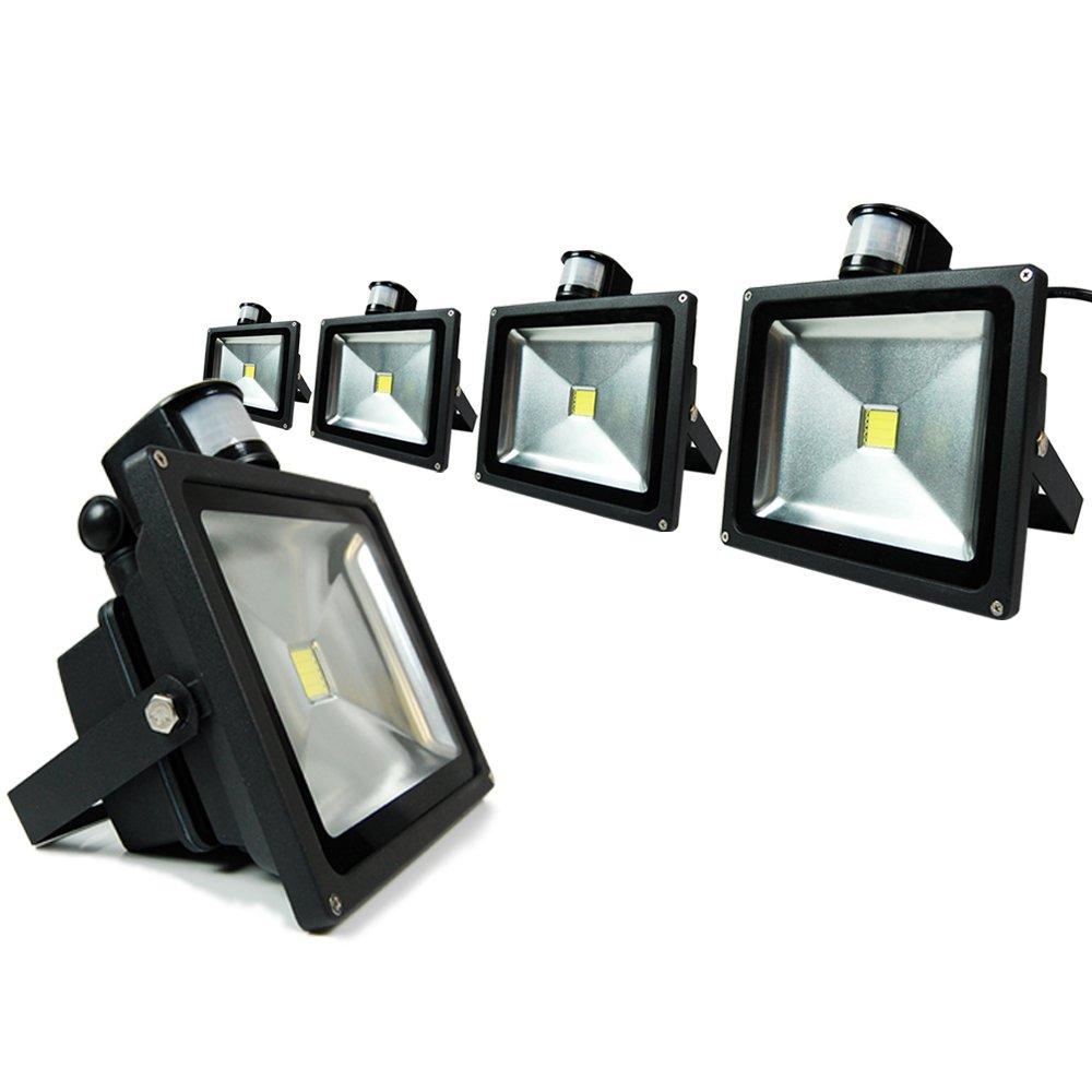 eTopLighting BLEFPIR30-5P 5 Pack LED Flood Light Pir Motion Sensor 120V 30W Home Garden Landscape Outdoor Daylight White Lamp by eTopLighting B017AHWGLQ