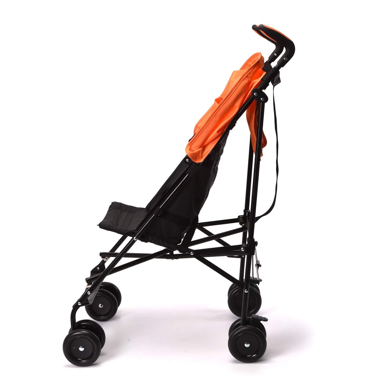 Wonder buggy Lightweight Baby Jumbo Umbrella Stroller with Rounded Hood (Orange) by Wonder buggy (Image #3)