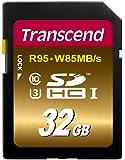 Transcend SDHC UHS-I U3 Extreme 32GB Speicherkarte (95MB/s Lesen, 85MB/s Schreiben)
