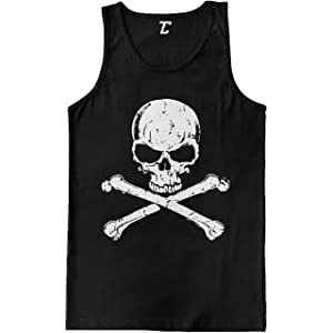 da1c74b5c1e35 Amazon.com  vermers Clearance Deals Fashion Skull Tank Top for Men ...