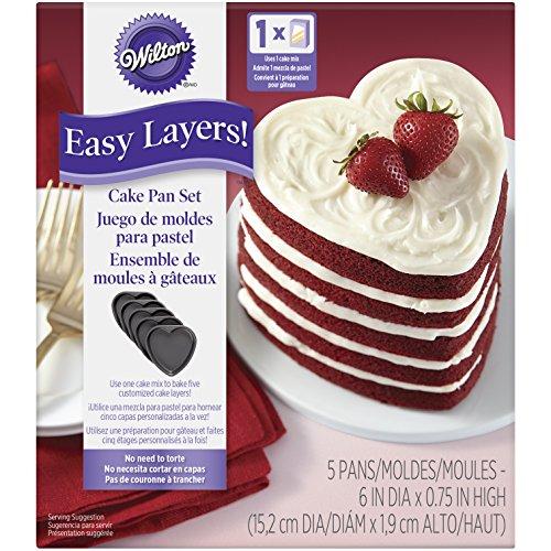 Wilton 2105–5495Corazón fácil capas. Cake Pan