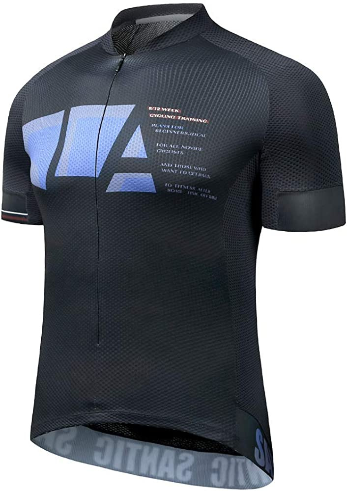 Santic Cycling Jersey Men Bike Jersey Cycling Jacket Reflective Breathable Moisture Wickin and Quick Dry : Clothing
