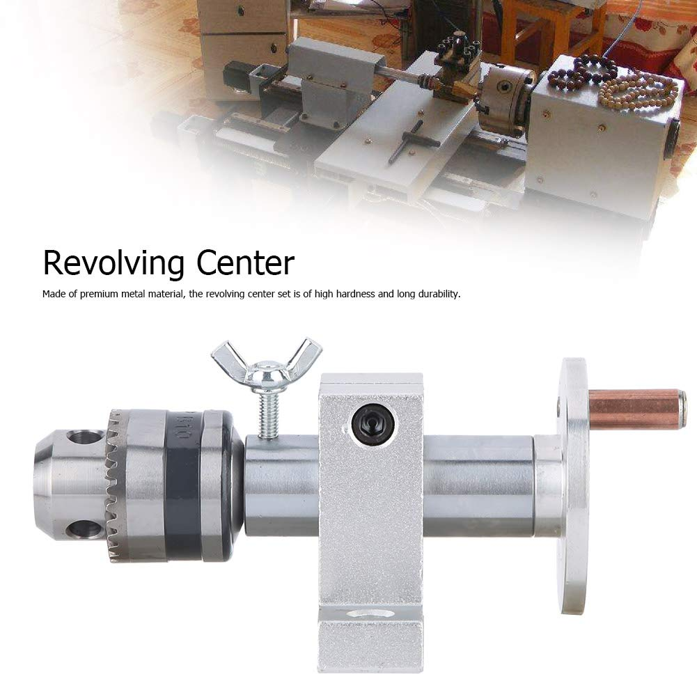 Revolving Centre,Live Revolving Center with Wrench,Holing Depth can be Regulated,for Mini Lathe Machine to do DIY Woodworking