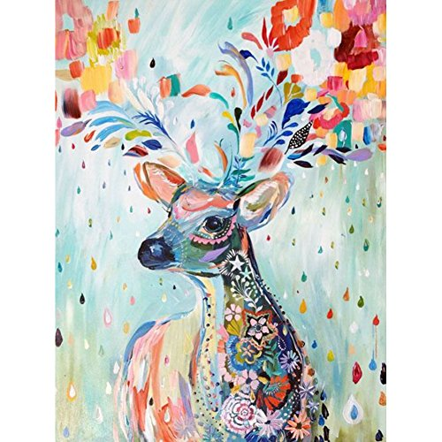 Awakingdemi 5D DIY Diamond Oil Painting Deer Mosaic Embroidery Painting Craft Home Decor (30*40cm/11.81*15.75inch) (Diamond Paint compare prices)