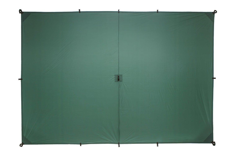Aqua Quest GUIDE Toldo Mediano 3 x 2 m Verde y Kit de Accesorios - Refugio de Lluvia para Mochileros de RipStop nylon de silicona, Ultraligero, Impermeable - Combo de Cables Tensores, Estacas de Aluminio y Lona Mediana