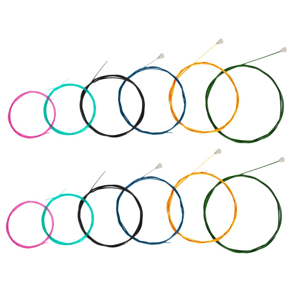 Dolity 2 Set Quality Rainbow 6 String Guitar Strings Nylon Classical Guitar String