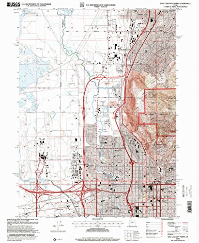 Salt Lake City North UT topo map, 1:24000 scale, 7.5 X 7.5 Minute, Historical, 1998, updated 2001, 26.6 x 21.8 IN - - Creek Lake City Salt Centre City