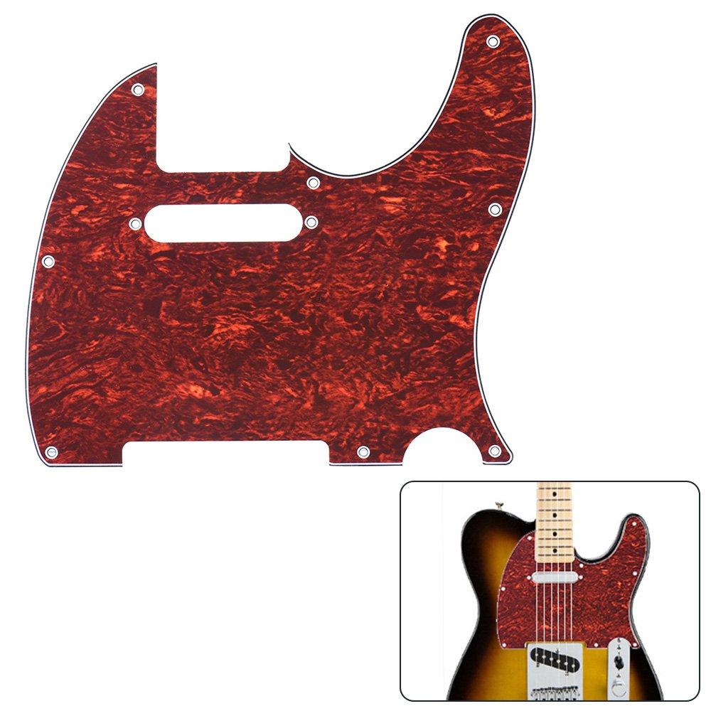 ammoon Golpeador 4ply de Fender Telecaster Standard Estilo Moderno de la Guitarra Eléctrica de la Concha Roja: Amazon.es: Instrumentos musicales