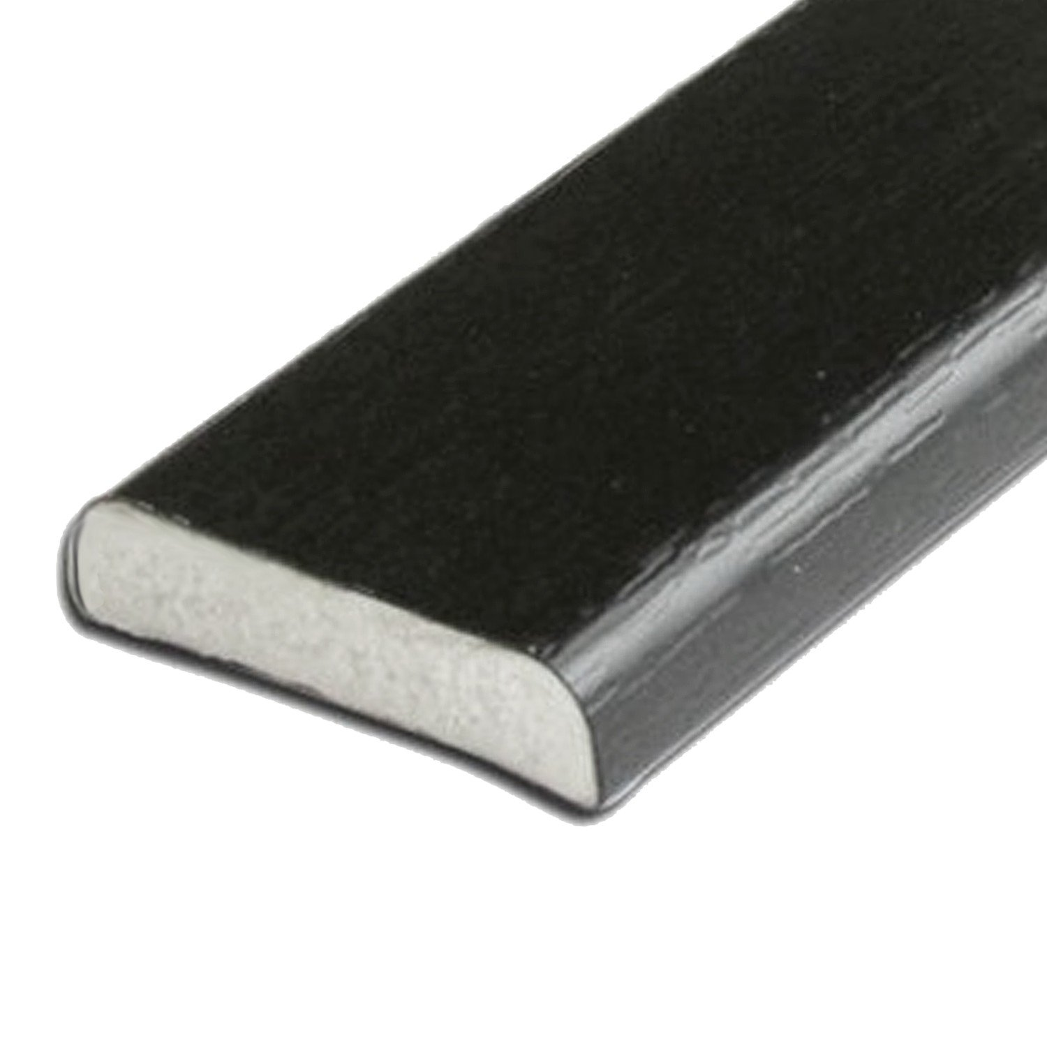 Window and Door Architrave Plastic Trim D Section Black Ash 28mm - 5 Metre Transtools