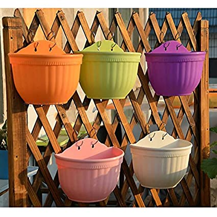 Amazon Com Half Round Shaped Wall Hanging Garden Flower Pots