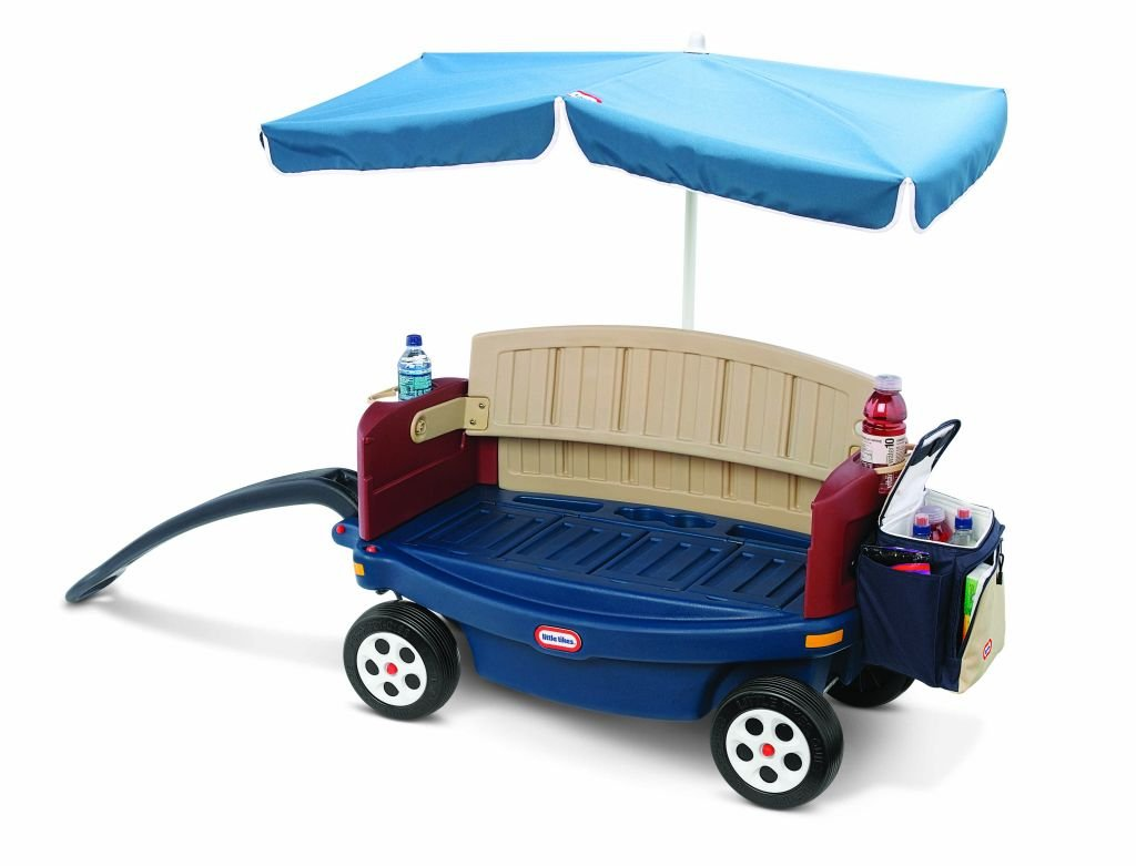 Amazon.com: Little Tikes Deluxe Ride and Relax Wagon with Umbrella ...