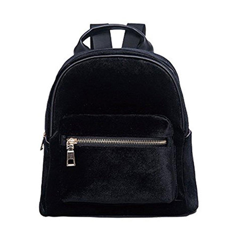 Amazon.com  Abuyall Girls Mini Backpack Gold Velvet Shoulder Bag  Lightweight Daypack Solid A  Shoes bc8708e582c29