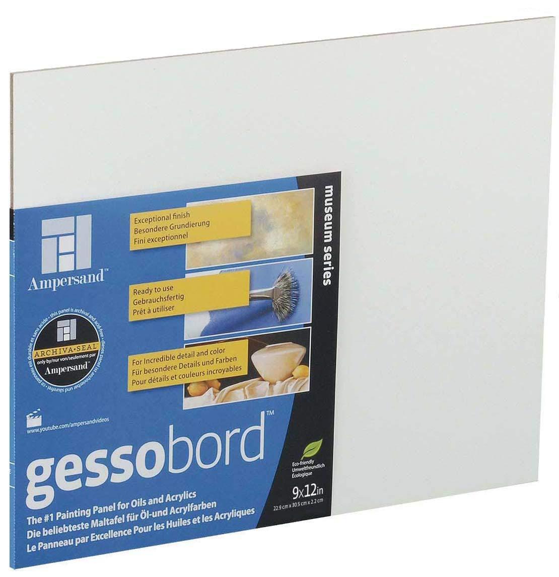 Ampersand : Gessobord Panel : Uncradled 3mm : 11x14in Premium Art Brands Ltd