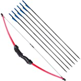 """UMB 45"""" Archery Bow and Arrow Set Beginner Recurve Bow Outdoor Sports Game Hunting Toy Gift Bow Kit Set with 6 Arrows 18…"""