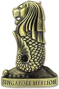 3D Singapore Metal Merlion Fridge Magnet Home Kitchen Decorative,Singapore Travel Holiday Souvenir Gift