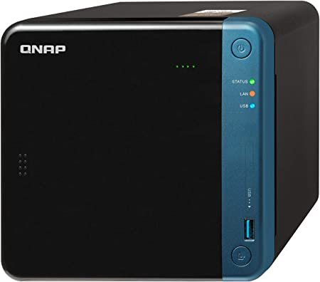 QNAP TS-453Be-2G 16TB 4 Bay Solución NAS de Escritorio | Instalado con 4 x 4 TB Western Digital Red Drives