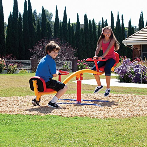 - Impex Durable Teeter Go Round for Ages 3-13 Years Old