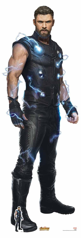 Star Cutouts – Silhouette en carton grandeur nature officielle de Thor (Chris Hemsworth) dans le film Avengers : Infinity War