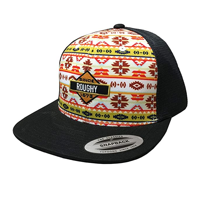 official photos 474ac 9dac4 HOOey Roughy Koda Patterned Cap, Black, One Size (Black)