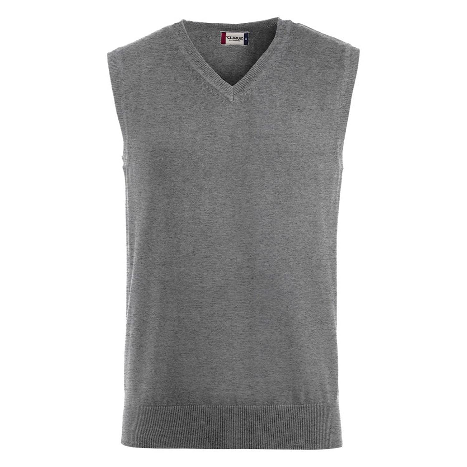 Swedish Brands Stylish Mens 12 Gauge Soft Touch Cotton V Neck Slipover Tank Top Sleeveless Jumper, 3 Colour Options, Sizes XS-2XL