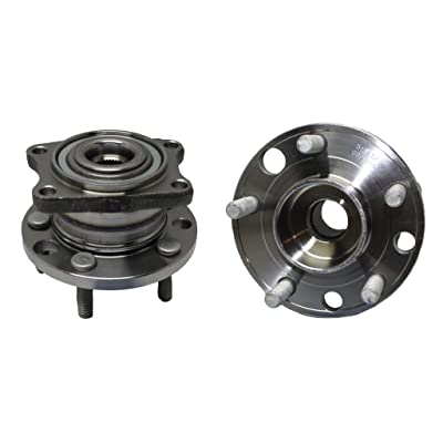 Detroit Axle Both (2) New Rear Driver & Passenger Side Complete Wheel Hub & Bearing Assembly for Volvo S40 & V50 AWD: Automotive