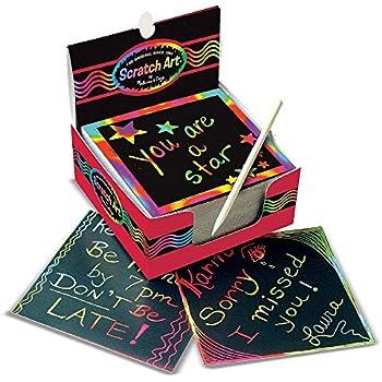 Amazon Com 15pcs Kids Premium Rainbow Scratch Kit 10 Big 11 X 8 25
