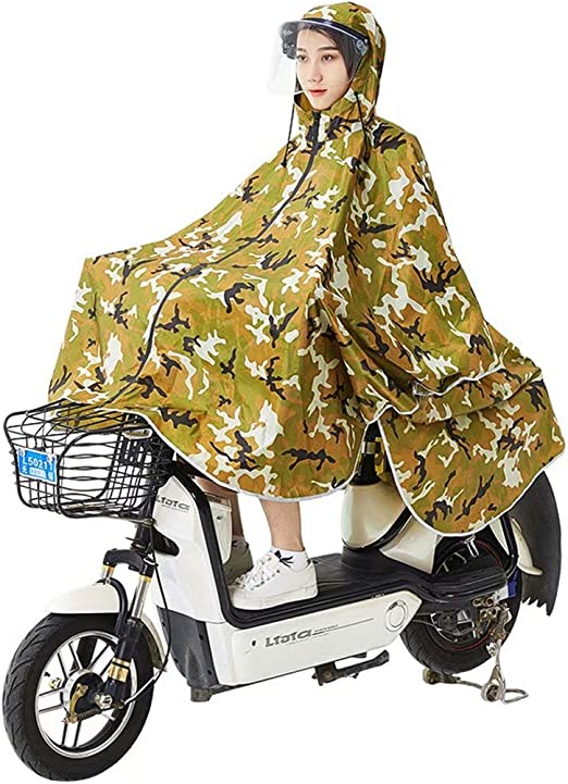 AA-SS Impermeable de Bicicleta Solo Poncho Impermeable Grueso ...