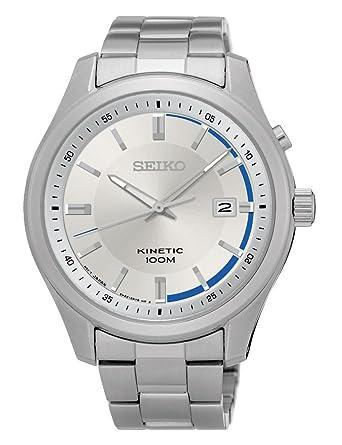 Seiko Reloj Analogico para Hombre de Automático con Correa en Acero Inoxidable SKA717P1: Amazon.es: Relojes