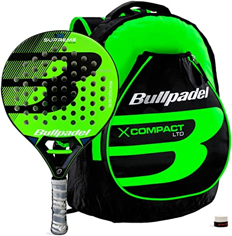 Bullpadel Pack Supreme Green + X-Compact: Amazon.es: Deportes y ...