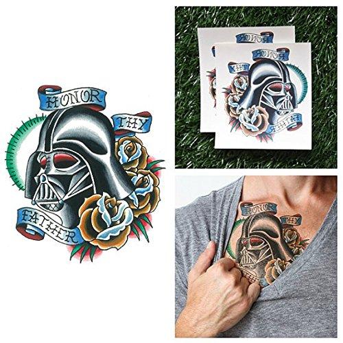 Star Wars Darth Vader Make Up Kit (Darth Vader Temporary Tattoo (Set of 2) - Star Wars)