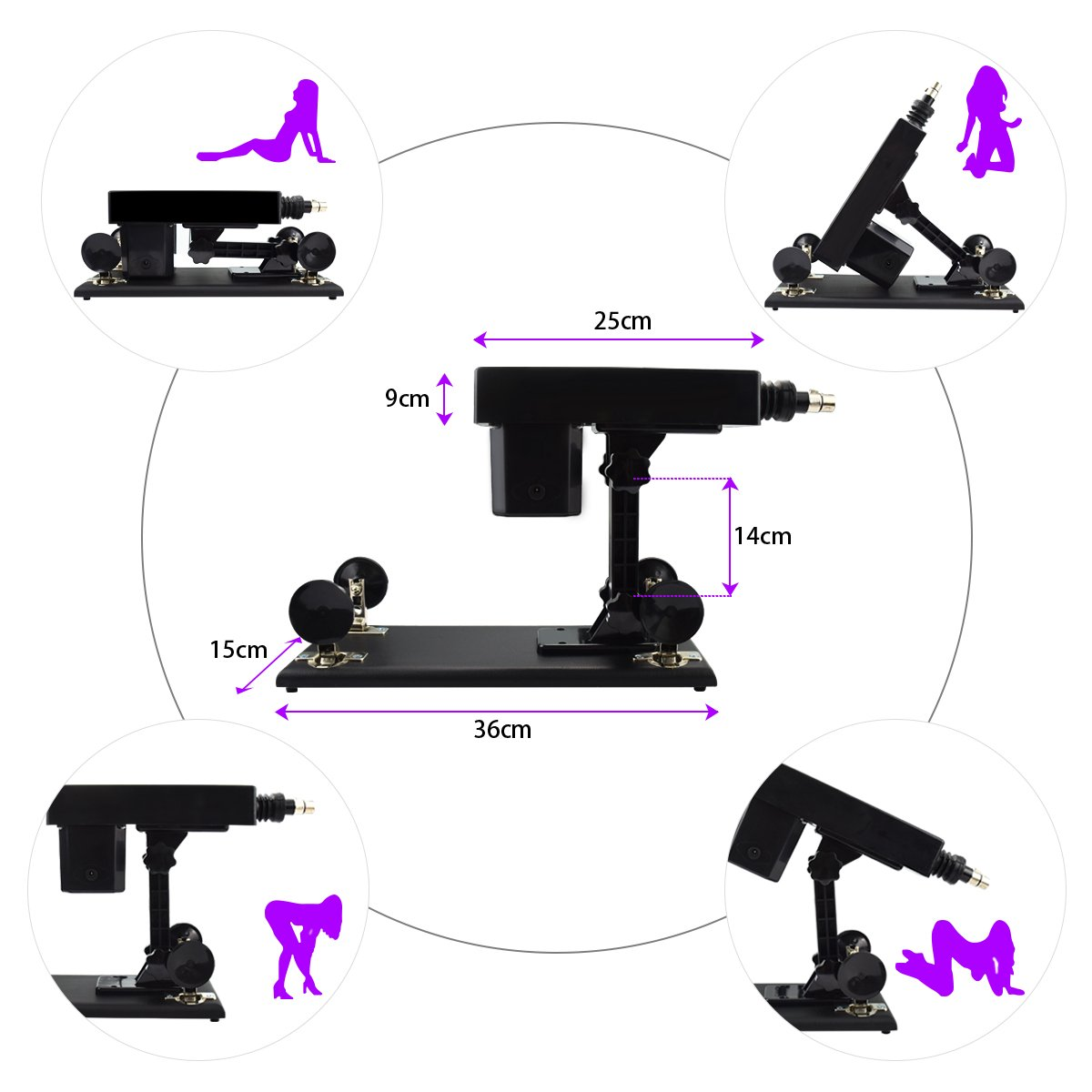 Female Sex Machine Toys Products Electric Automatic Attachments Men and Women Masturbation Sex Machine by iKenmu (Image #2)