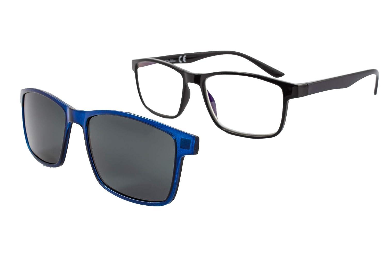 Gafas de lectura con iman para sol - Gafas de presbicia - Vista cansada graduadas - Unisex - Mujer - Hombre - 6016 (C3, 3.00 Dioptrías)