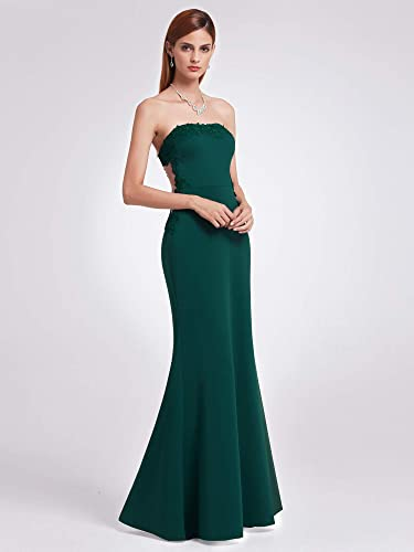 c9235de28 Ever-Pretty Vestidos de Fiesta Noche Largo Verde Oscuro de Encaje Elegante  de Las mujeres07189: Amazon.es: Ropa y accesorios