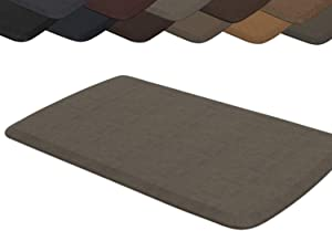 "GelPro Elite Premier Anti-Fatigue Kitchen Comfort Floor Mat, 20x36"", Vintage Leather Mushroom Stain Resistant Surface with therapeutic gel and energy-return foam for health & wellness"