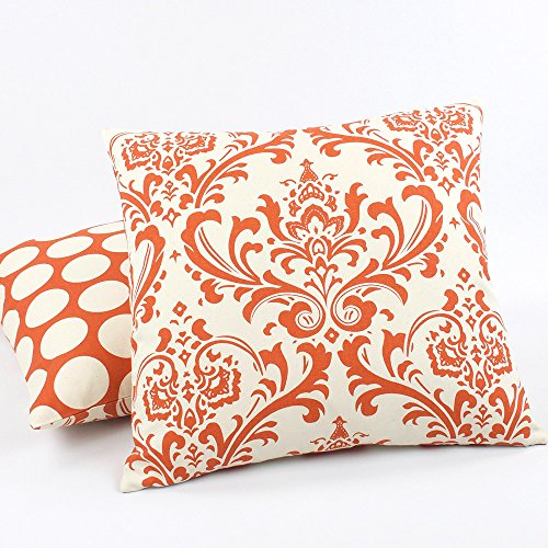 orange-creamsicle-collection-20-square-throw-pillow-with-insert-damask-and-polka-dots-orange-and-cre