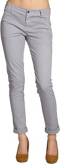 Caspar KHS037 Pantalones de Chinos para Mujer de Algodón Skinny Fit