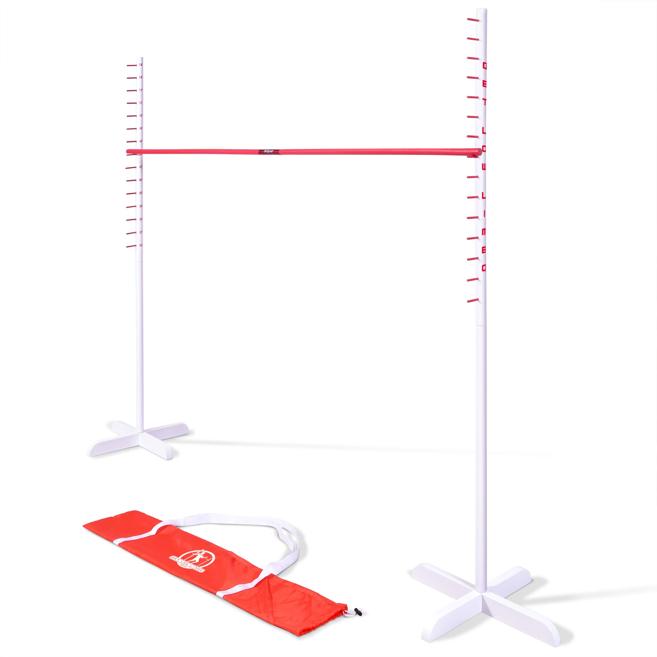 GoSports Get Low Limbo Premium Wooden Limbo Game | Sets up in Seconds | Fun for Kids & Adults