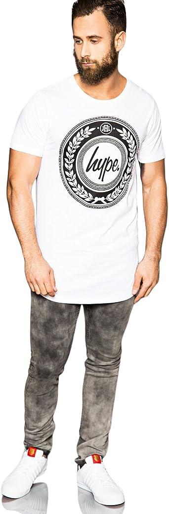 Russell Athletic T Shirt en Blanc-à encolure ras-du-cou à manches courtes T-shirt 100/% coton
