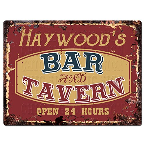 Haywood Wine - HAYWOOD'S BAR and TAVERN Tin Chic Sign Rustic Vintage style Retro Kitchen Bar Pub Coffee Shop Decor 9