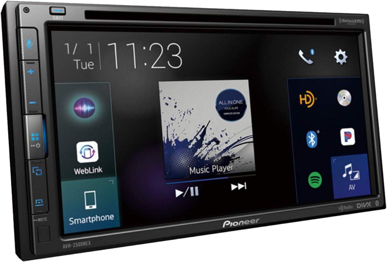 Pioneer AVH-2500NEX - Receptor estéreo para DVD/MP3 con Bluetooth, Apple Carplay y Android con compatibilidad automática