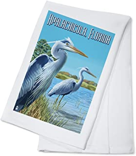 product image for Blue Herons in grass - Apalachicola, Florida (100% Cotton Kitchen Towel)