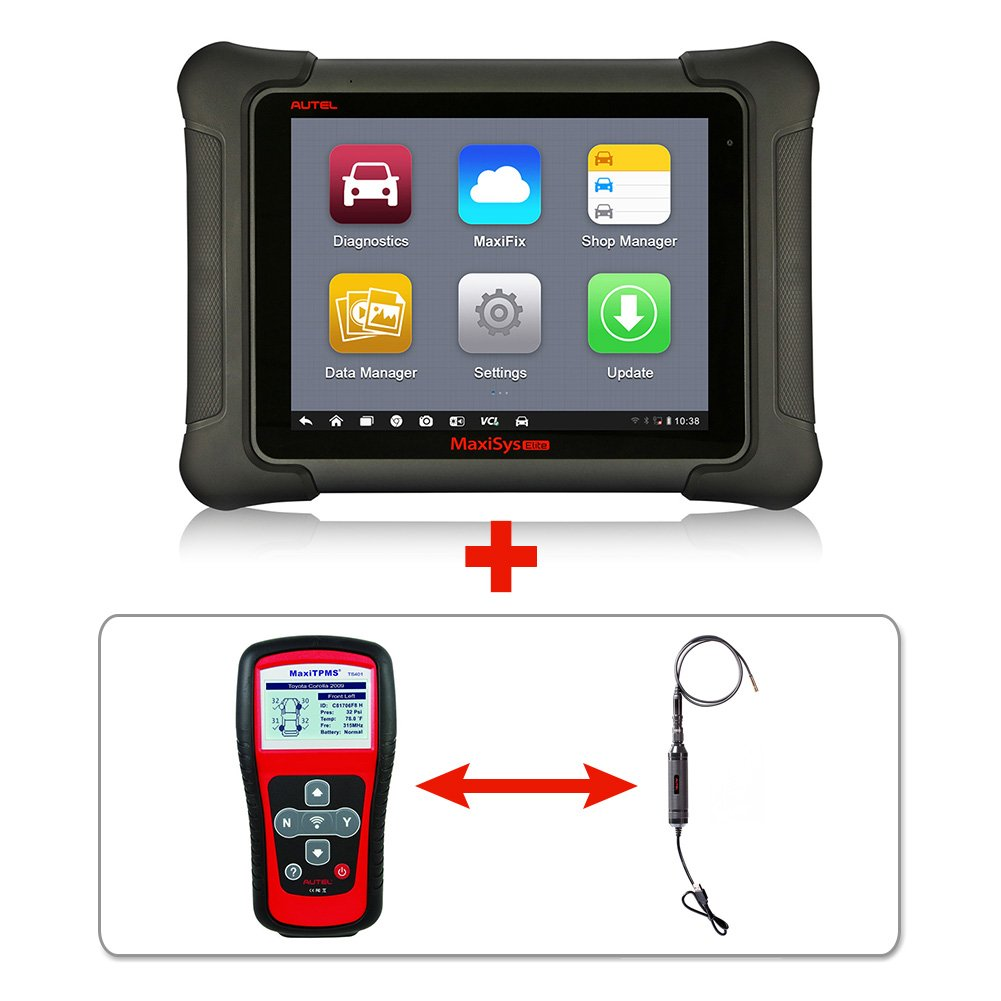Autel Maxisys Elite+TS401+MV105 – Diagnostic Tool with Specific Car ECU Coding & Programming TPMS Diagnostics & Service and Inspection Video Scope + 2 Years of Free Updates