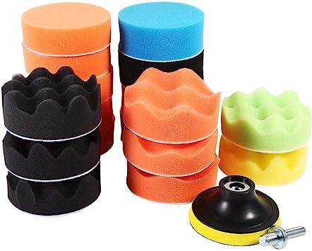 19Pcs Polishing Pad Sponge Buffing Kit 3 Inch Professional Foam Buffing Tool Set