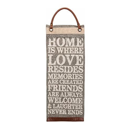 Primitives by Kathy Hanging Canvas Banner - Home is Where - Vintage Quote Wall Decor