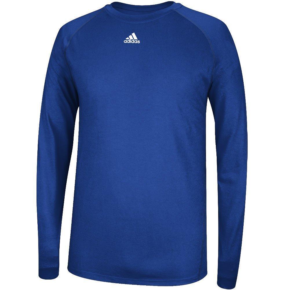 AdidasメンズClimalite杢長袖シャツ B0185OXAJAロイヤル XL