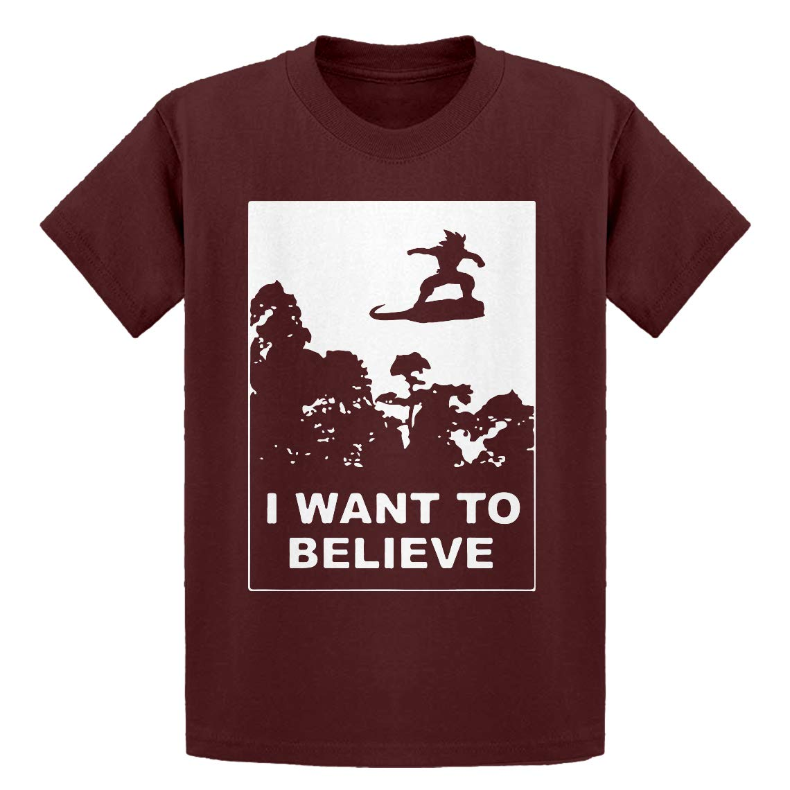 Indica Plateau Youth I Want to Believe Nimbus Fighter Kids T-Shirt